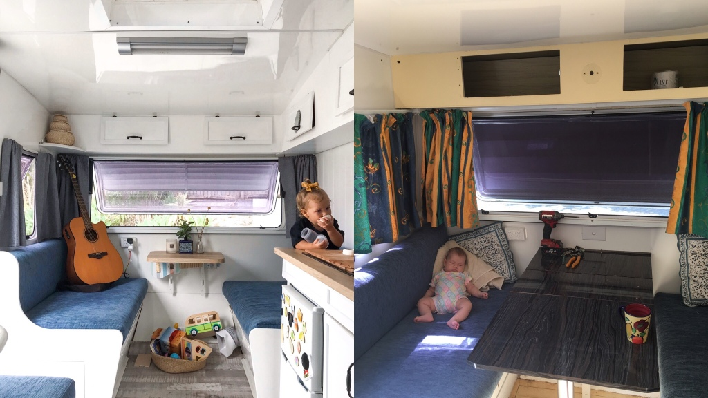 Viscount caravan before and after renovations